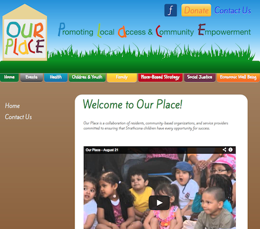 Our Place Website Screencap