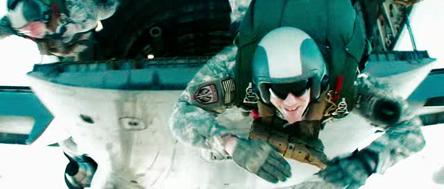 One happy soldier jumps off a perfectly good aircraft