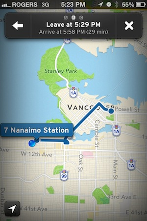 The Transit App - Trip planning on the bus