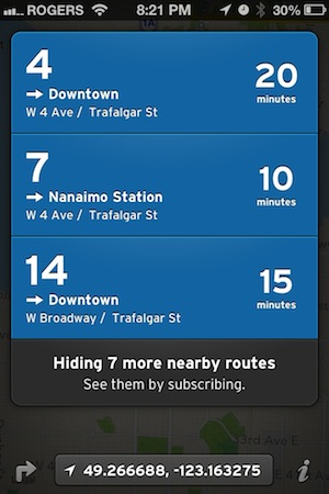 The Transit App - nearby & real time